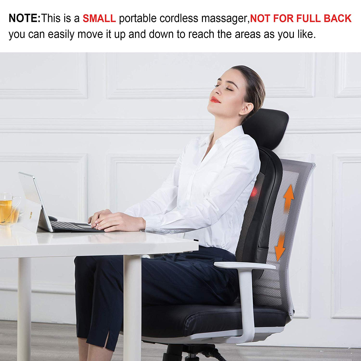 Review of Snailax Cordless Shiatsu Back Massager with Heat, Portable  SL166