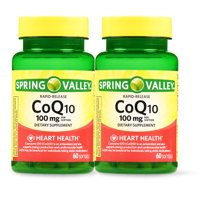 Review of Spring Valley CoQ10 Rapid Release Softgels, 100 mg, 60 Ct, 2 Pk