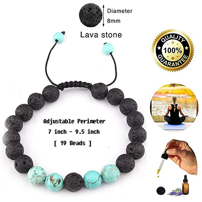 Review of SULYSI Adjustable Lava Rock Stone Essential Oil Anxiety Diffuser Bracelet