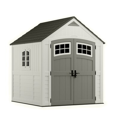 Review of Suncast Cascade Gable Storage Shed (Common: 7-ft x 7-ft; Actual Interior Dimensions: 6.7-ft x 6.7-ft)