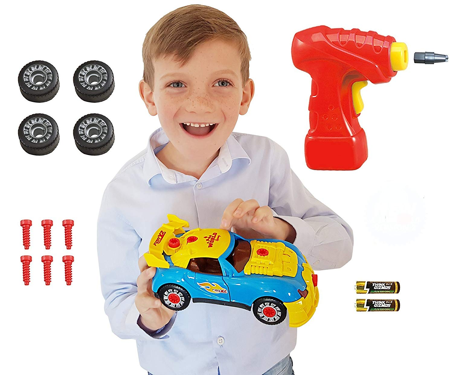 Review of Think Gizmos Take Apart Toy Racing Car - Construction Toy Kit for Boys and Girls Aged 3 4 5 6 7 8