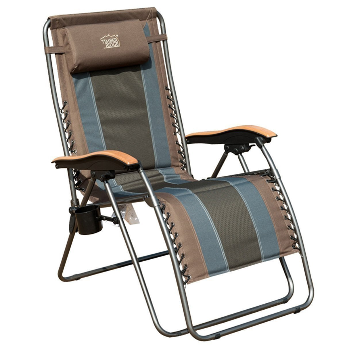 Timber Ridge Zero Gravity Patio Lounge Chair Oversize XL Padded Adjustable Recliner