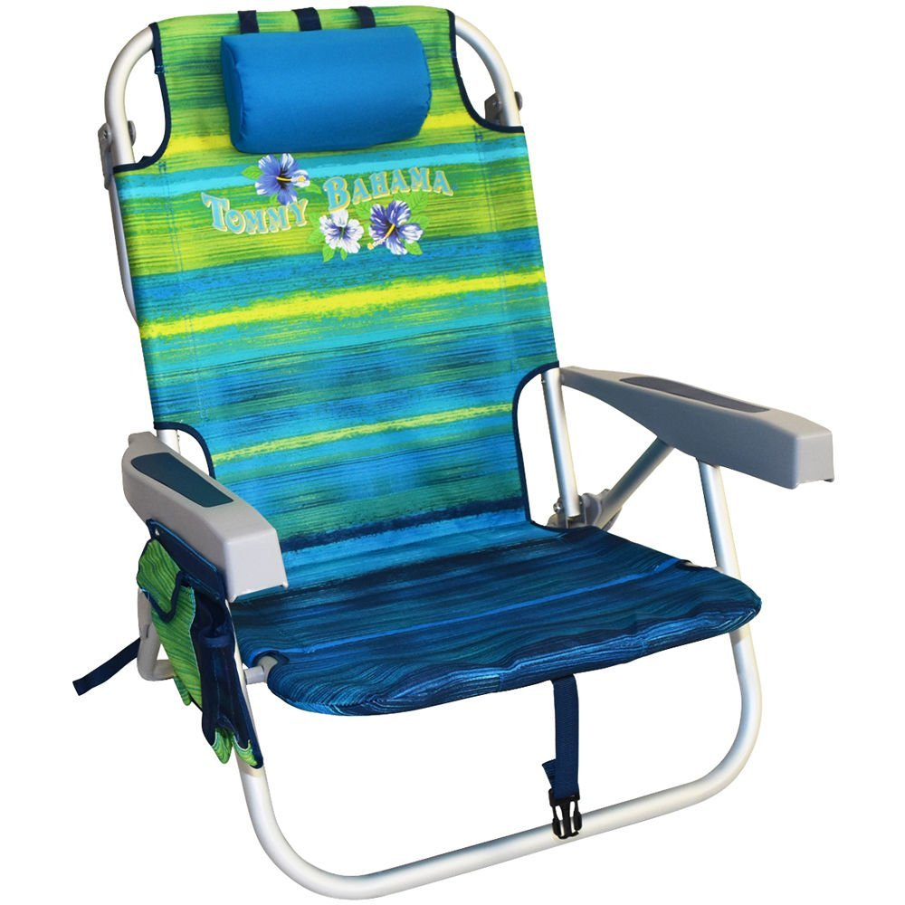 Review of Tommy Bahama Backpack Cooler Chair with Storage Pouch and Towel Bar
