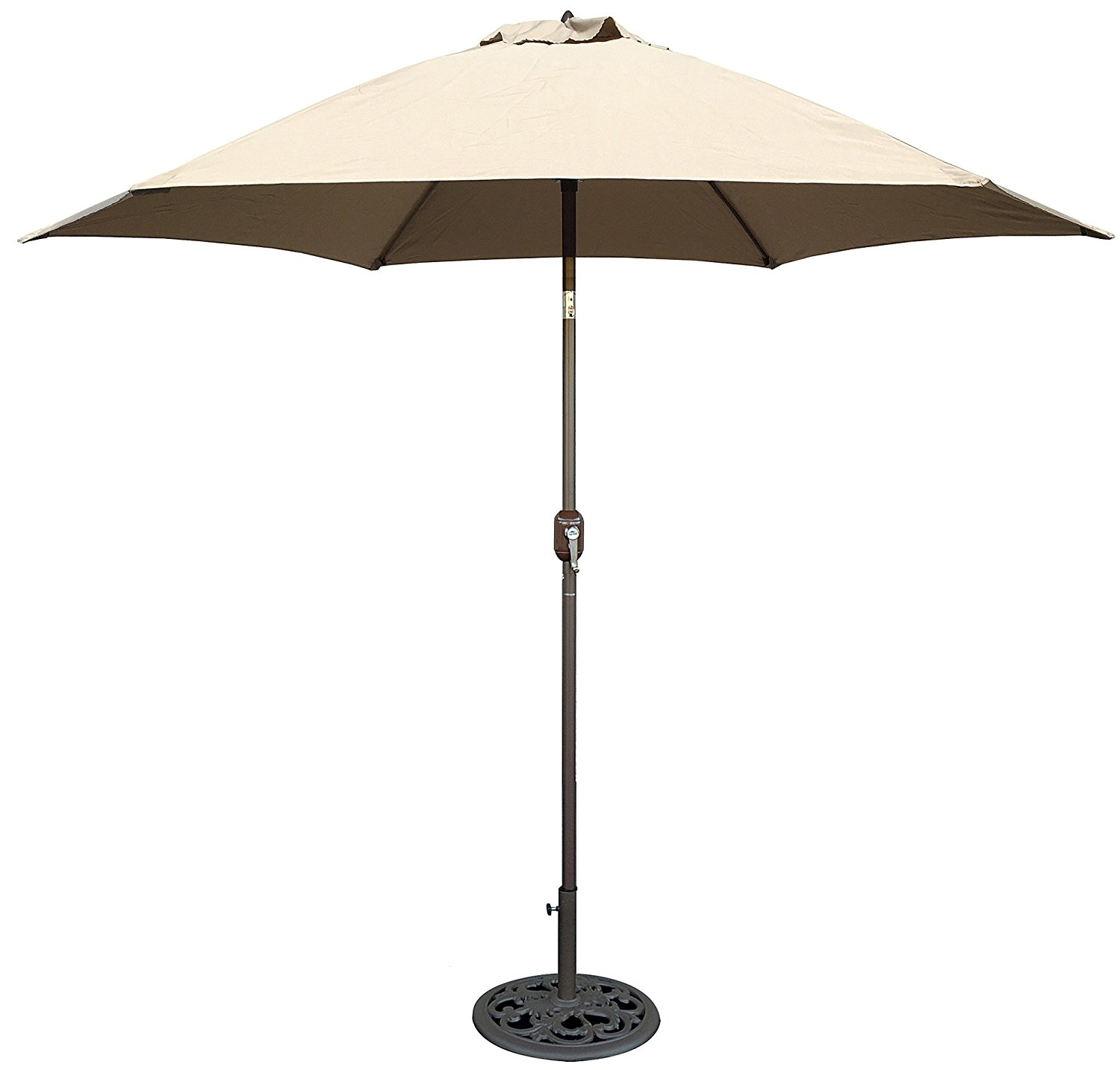 Review of Tropishade 9 ft Bronze Aluminum Patio Umbrella with Beige Polyester Cover
