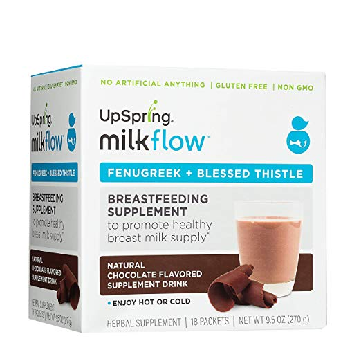 Review of UpSpring Milkflow Fenugreek and Blessed Thistle Powder Chocolate Drink Mix