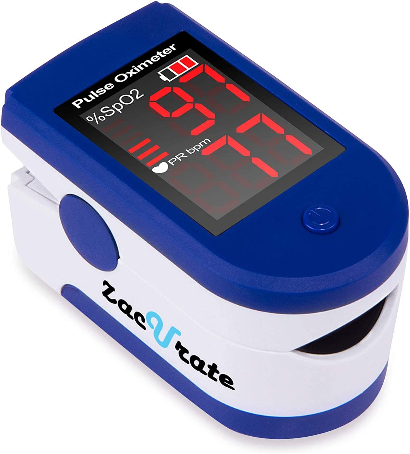 Review of Zacurate Pro Series 500DL Sporting/Aviation Fingertip Pulse Oximeter Blood Oxygen Saturation Monitor with silicon cover, batteries and lanyard (Mystic Purple)
