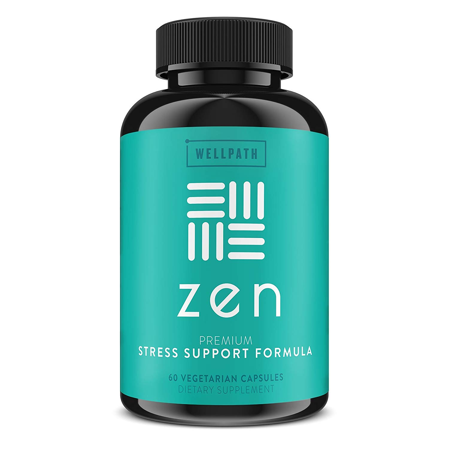 Review of Zen Premium Anxiety and Stress Relief Supplement - Natural Herbal Formula Developed to Promote Calm, Positive Mood - with Ashwagandha, L-Theanine, Rhodiola Rosea, Hawthorne - 60 Veg. Capsules